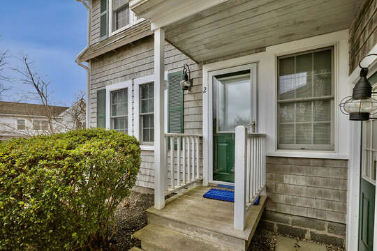 Main door access to Unit #2 with keyless entry - 25 Bank Street Unit #2 Harwich Port - New England Vacation Rentals