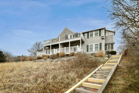 Stairs to access Bank Street Beach - 25 Bank Street Unit #2 Harwich Port - New England Vacation Rentals