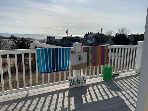 Views from the back deck - 25 Bank Street Unit #2 Harwich Port - New England Vacation Rentals