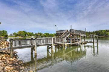 Amazing dock & views available at Sunset Shores Resort!