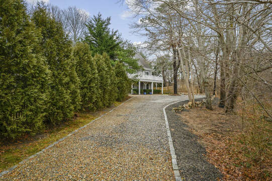 Welcome to Chasing Alpha Driveway to home-51 Nantucket St Hyannis - Cape Cod- New England Vacation Rentals