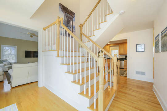 Second level entry with stairs to 3rd floor-51 Nantucket St Hyannis - Cape Cod- New England Vacation Rentals