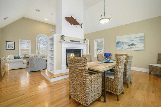 Enjoy a family meal at this beautiful dining table-51 Nantucket St Hyannis - Cape Cod- New England Vacation Rentals