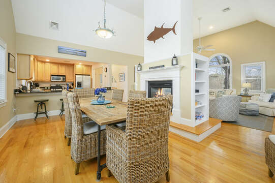 Ample seating for all at this beautiful dining table-51 Nantucket St Hyannis - Cape Cod- New England Vacation Rentals