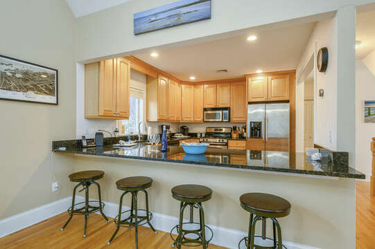 Breakfast bar with seating for 4-51 Nantucket St Hyannis - Cape Cod- New England Vacation Rentals