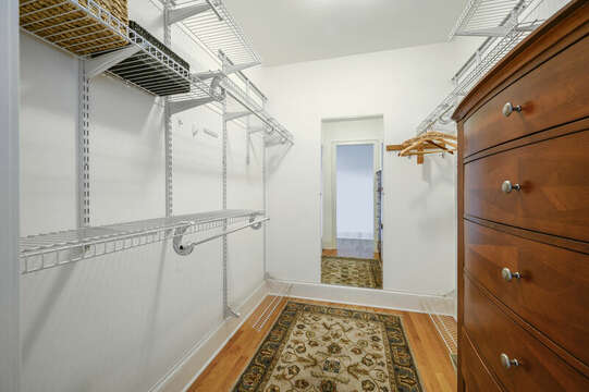 Walk in closet for Bedroom #2-51 Nantucket St Hyannis - Cape Cod- New England Vacation Rentals