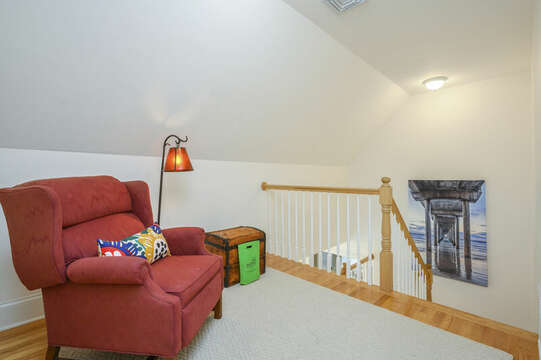 Third Floor hall with comfy reading chair-51 Nantucket St Hyannis - Cape Cod- New England Vacation Rentals