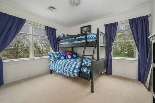 Third floor-Bedroom #4 Bunk beds with full and twin -51 Nantucket St Hyannis - Cape Cod- New England Vacation Rentals