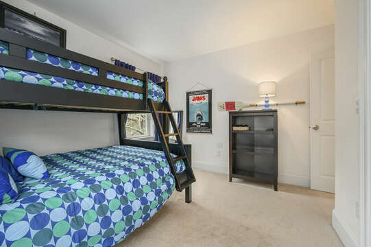Third floor-Bedroom #4 Bunk beds with full and twin bed-51 Nantucket St Hyannis - Cape Cod- New England Vacation Rentals