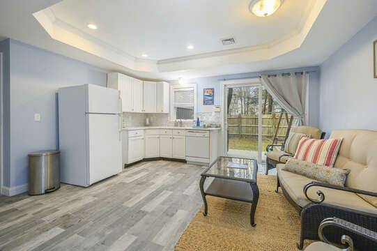 First floor Additional kitchen space, slider to back yard and grill-51 Nantucket St Hyannis - Cape Cod- New England Vacation Rentals
