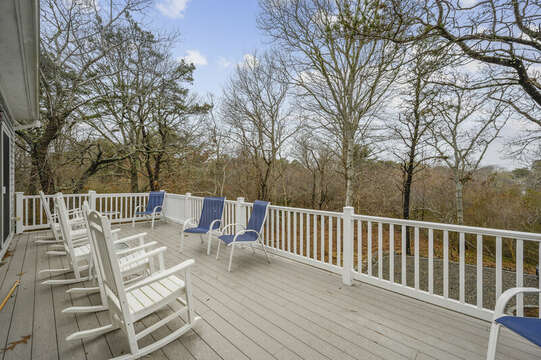 Large second floor deck with ample seating-51 Nantucket St Hyannis - Cape Cod- New England Vacation Rentals