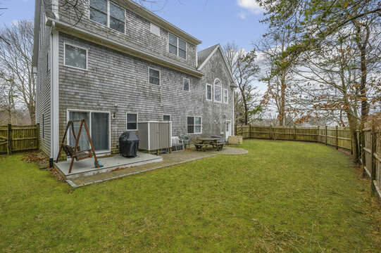 Back yard with lots of room to play -51 Nantucket St Hyannis - Cape Cod- New England Vacation Rentals