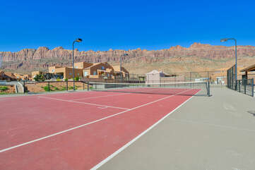 Mountain View from the Tennis Court.