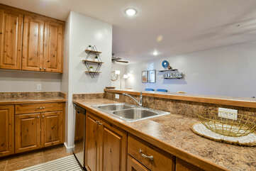 Kitchen Bar with Sink in Our Moab Vacation Home.