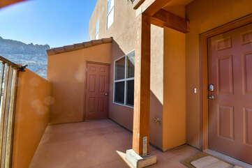 Picture of the Front Door in Our Moab Vacation Home.