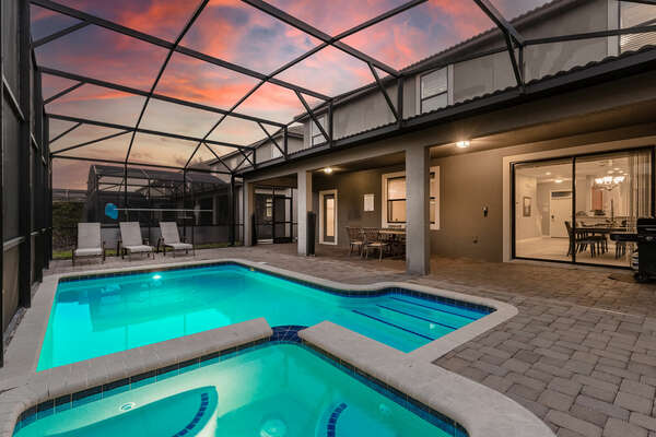 Come home to your own private villa after enjoying the Orlando attractions