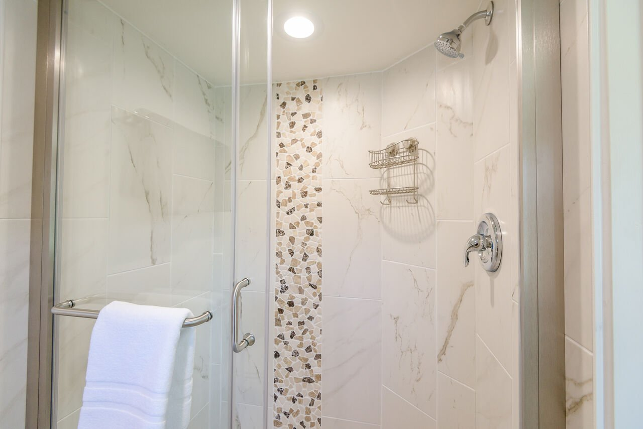Master Bath 3 with a Tile/Glass Shower