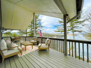 Main Level covered Deck overlooking Lake Glenville