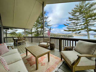 Covered Deck overlooking Lake Glenville