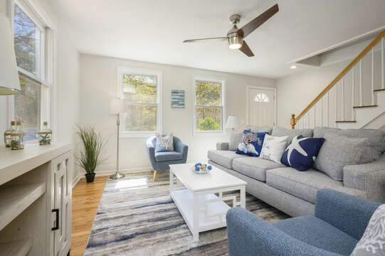 Living room ( Tv to be installed)-875 Great Pond-Eastham- Cape Cod- New England Vacation Rentals