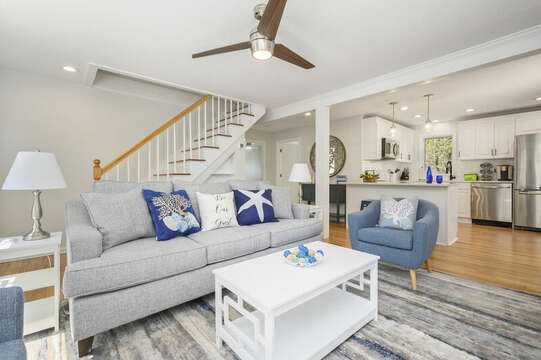 Living room open to kitchen-875 Great Pond-Eastham- Cape Cod- New England Vacation Rentals
