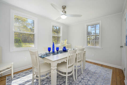 Dining room seating for 8-875 Great Pond-Eastham- Cape Cod- New England Vacation Rentals