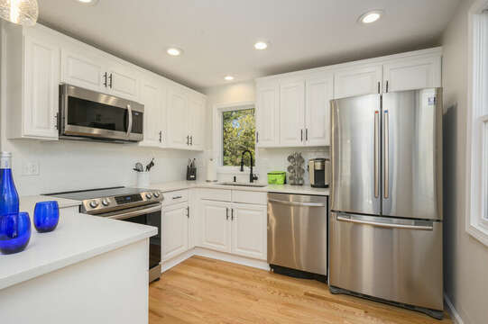 Kitchen granite counters , stainless appliances-875 Great Pond-Eastham- Cape Cod- New England Vacation Rentals