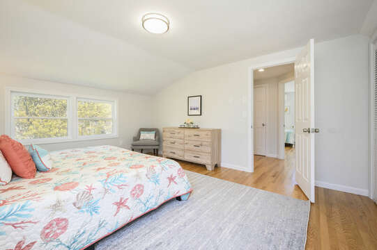 Bedroom #1 king bed, dresser-875 Great Pond-Eastham- Cape Cod- New England Vacation Rentals