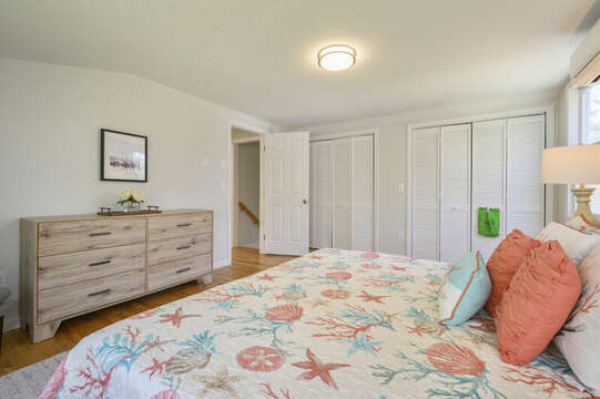 Bedroom #1 King bed double closets, dresser-875 Great Pond-Eastham- Cape Cod- New England Vacation Rentals