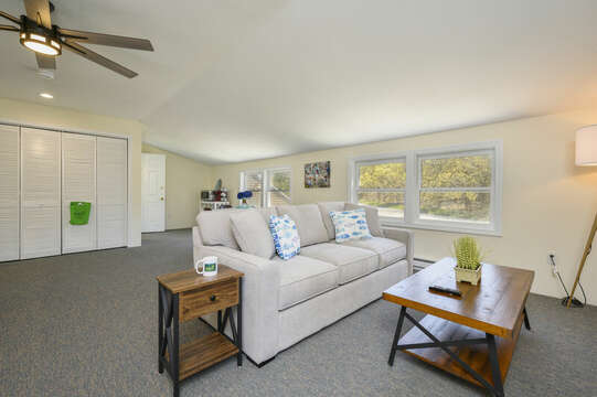 Bonus apartment over the garage- couch , large closet-875 Great Pond-Eastham- Cape Cod- New England Vacation Rentals