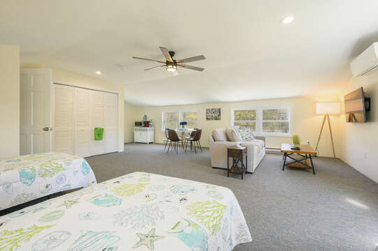 Bonus apartment over the garage, Two Twins , couch, table with 4 chairs, mini kitchenette and full bath-875 Great Pond-Eastham- Cape Cod- New England Vacation Rentals