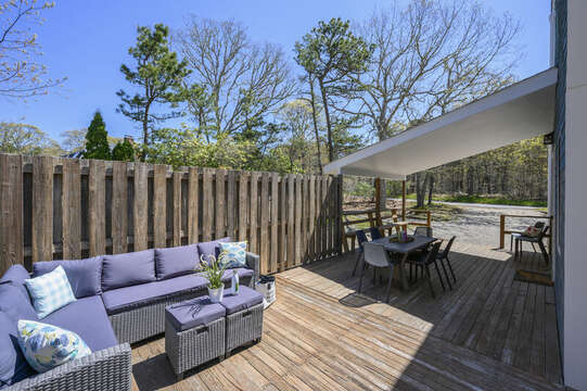 Relax on the outdoor couch and soak up the sun-875 Great Pond-Eastham- Cape Cod- New England Vacation Rentals