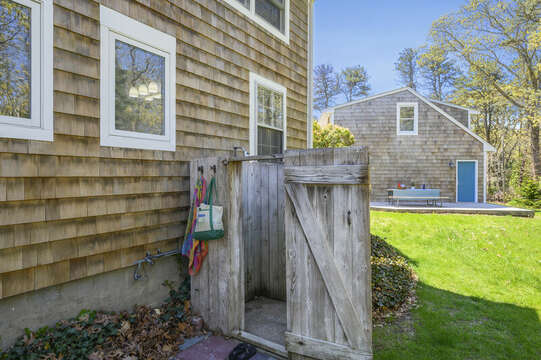 Out door shower- 875 Great Pond-Eastham- Cape Cod- New England Vacation Rentals
