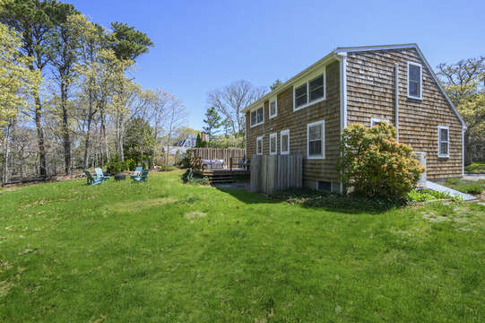 Enjoy yard games in this large back yard -875 Great Pond-Eastham- Cape Cod- New England Vacation Rentals