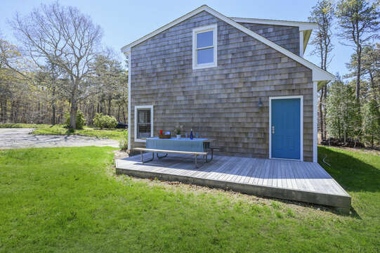 Deck for apartment over garage-875 Great Pond-Eastham- Cape Cod- New England Vacation Rentals