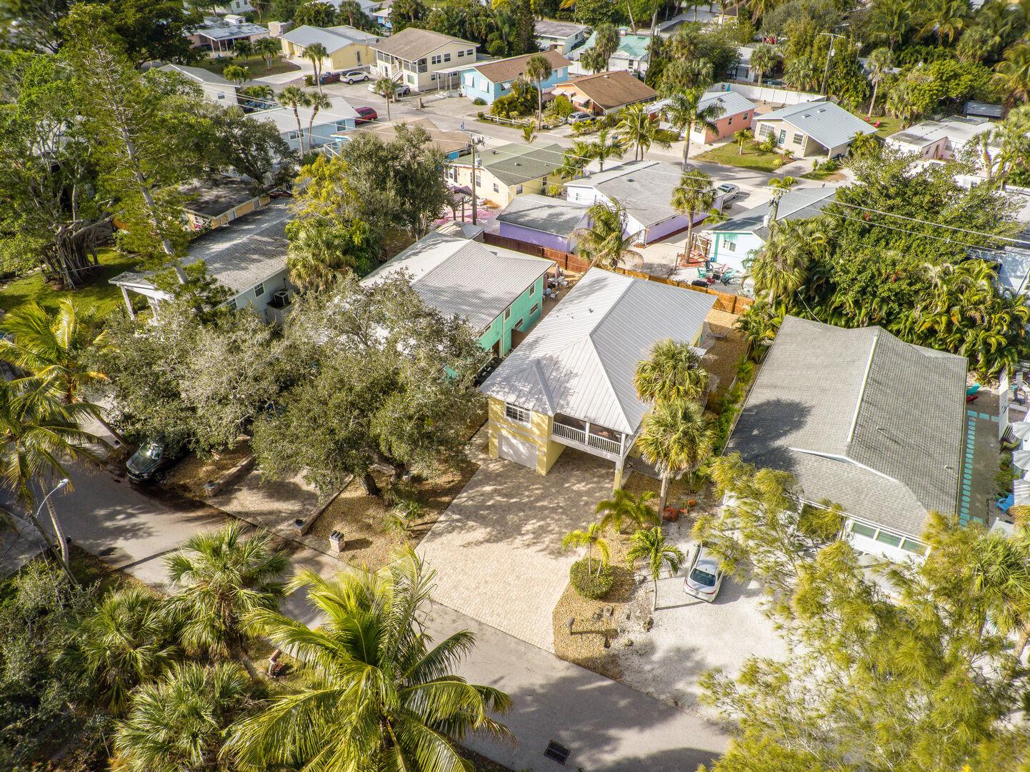 Arial view of the neighborhood