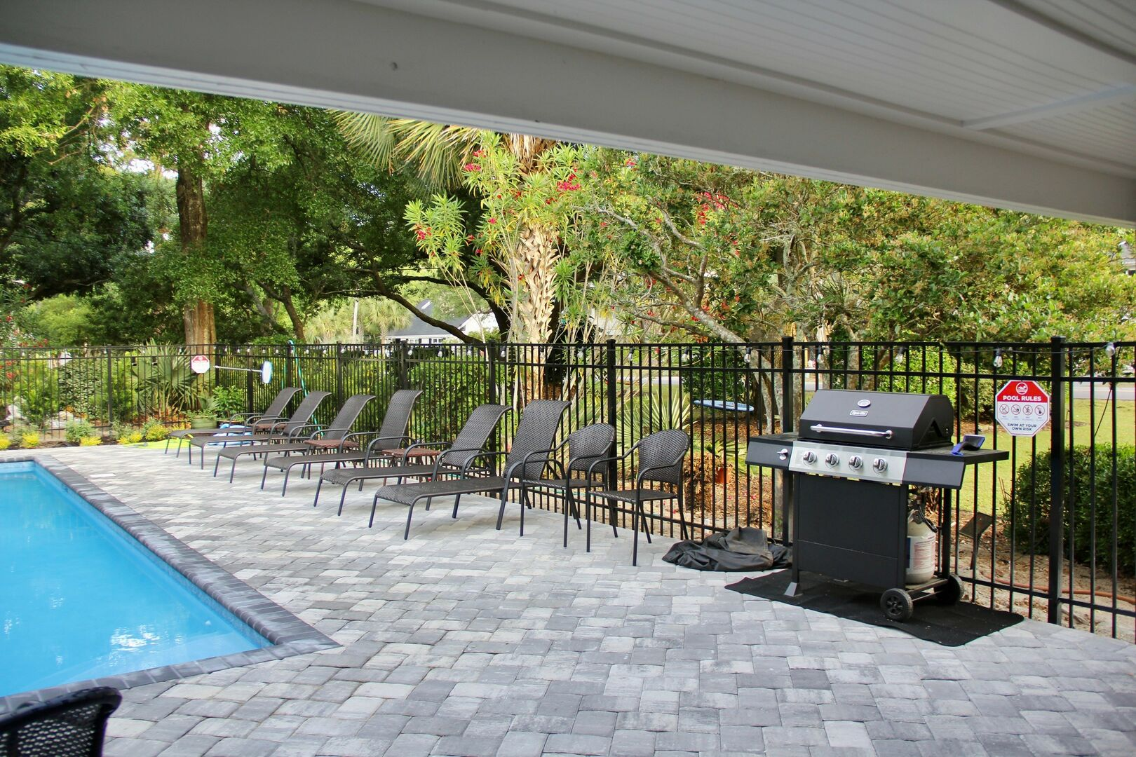 Private Swimming Pool and Deck