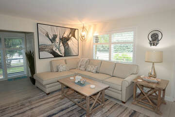 Comfortable seating in living room