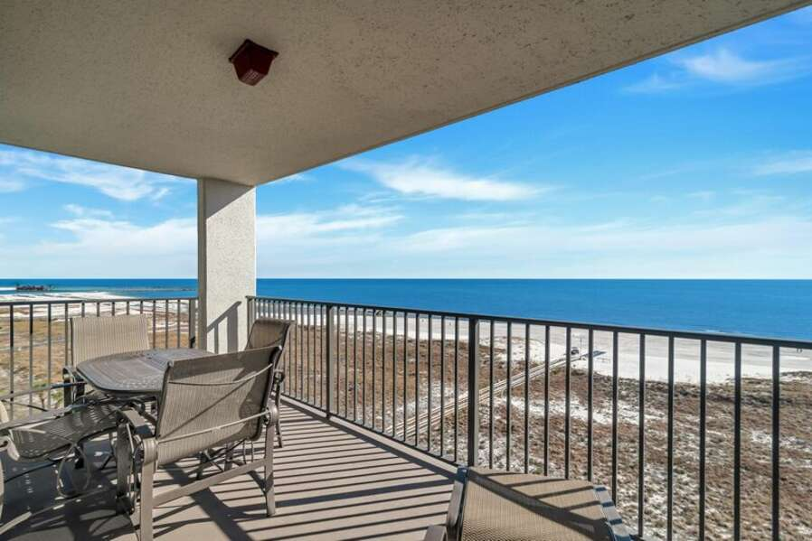 Private Balcony overlooking the Beach and the Gulf of Mexico