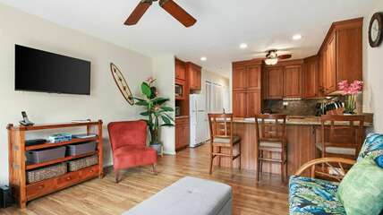 Open Floor Plan with Kitchen and Living Area