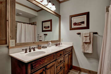 Guest Bathroom with walk in shower