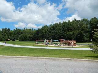 Sapphire Valley Amenities: track, basketball court, playground, picnic tables with charcoal grills