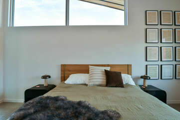 Large Bed and Nightstands.
