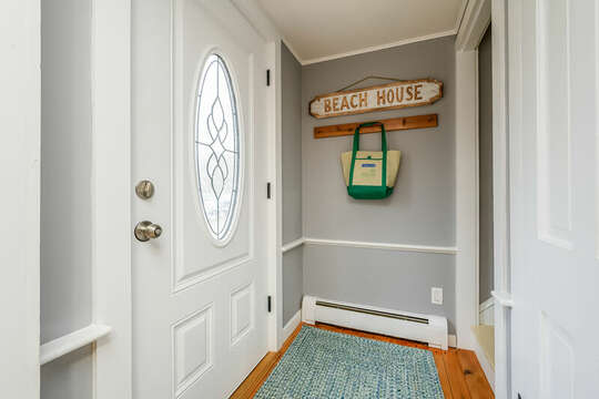 Entry way with stairs to second floor-75 Pinewood Rd Hyannis Cape Cod- New England Vacation Rentals