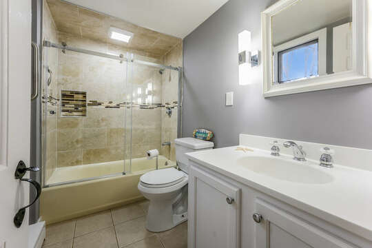 Bath #2 Ensuite bath for bedroom #1-75 Pinewood Rd Hyannis Cape Cod- New England Vacation Rentals