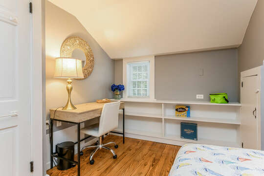 Bedroom #2 Desk for remote learning-75 Pinewood Rd Hyannis Cape Cod- New England Vacation Rentals