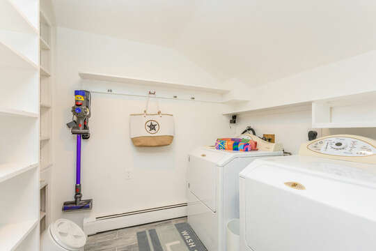 Laundry room located just off the Kitchen-75 Pinewood Rd Hyannis Cape Cod- New England Vacation Rentals