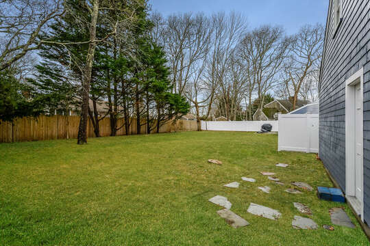 Back yard- 75 Pinewood Rd Hyannis Cape Cod- New England Vacation Rentals