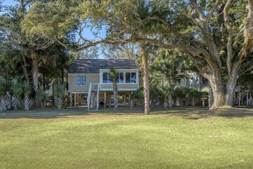 The rear of this Tarpon Pond Cottage shows off all the windows.