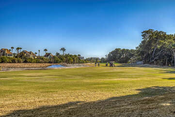 The Ocean Winds Golf Course is just out your back door.